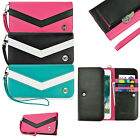 caseen Verizon Smart Cell Phone Wallet Clutch w/Wrist Strap Bag Case Cover NEW