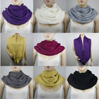 WOMEN KNIT INFINITY CIRCLE WOVEN SCARF SCARVES #SF199