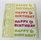 Filzsticker Happy Birthday Scrapbooking Filz Sticker Kartengestaltung Geburtstag