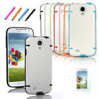 New Soft Hard Gel Skin Hybrid Case Cover for Samsung Galaxy S4 S 4 IV i9500 +Pen