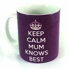 NEW KEEP CALM MUM KNOWS BEST GIFT MUG CUP PRESENT MOTHERS DAY BIRTHDAY CHRISTMAS