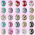 Pugster Silver/P Crystal Rhinestone Spacer Beads Fit European Charms Bracelets