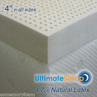 "NEW 4 Inch 100% Natural Latex Mattress Pad Topper - FULL 53"" x 75"", 3 Densities"