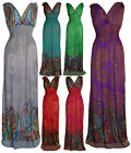 Long Floral Pattern Print Casual Grecian Maxi Day Summer Dress UK sizes 8-18