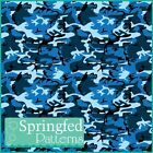 CLASSIC BLUE CAMO PATTERN CRAFT VINYL Army Ocean Camouflage Vinyl Decal Sheets
