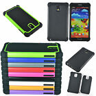 Hybrid Rugged Impact Rubber Hard Case Cover for Samsung Galaxy Note 3 III N9000