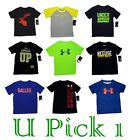 KIDS UNDER ARMOUR SPORTS TEE ATHLETIC GRAPHIC T SHIRT BOYS SHORT SLEEVE ACTIVE