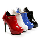 Quality New shoes Back zipper High Heel Pumps Ankle boots ALL AU Sizes s64