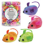 Zanies TIE DYE MICE Cat Kitten Toy Canisters of 40, 4 Colors! ALL ADORABLE!
