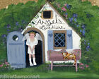 Angels Live Here Bungalow Child Kitty Cat Heavenly   Wall Art FTMA