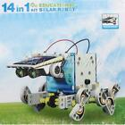 3/14 in 1 Solar Power DIY Educational Toy Juguetes Kit Robot Train Plane Penguin