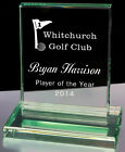 Personalised Rectangle Jade Glass Golf Award Trophy, Laser Engraved