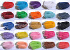 U Pick(24 colors)10/100pc Lobster Clasp Organza Ribbon Waxen Cord Necklace 450MM