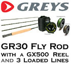 GREYS GR30 Fly Fishing Rod with GX500 Reel & 3 Loaded Lines (TOTAL RRP to £209)