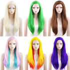 """24"""" Heat Resistant Long Straight Blonde / Brown / Pink Lace Front Hair Wig"""
