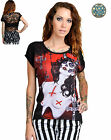 TOO FAST POSSESION TATTOO GOTHIC PUNK ROCKABILLY ZOMBIE EVIL 666 SKULL SHIRT