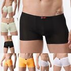Sexy Cool Men See Through Smooth Underwear Boxer Brief Short Lingerie Underpants