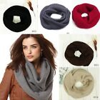 Women Winter Warm Infinity Circle Cowl Snood Cable Knit Neck Wrap Scarf Shawl
