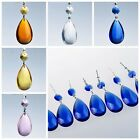 20 Chandelier Glass Crystals Lamp Prisms Parts Hanging Drops Pendants 3.7''
