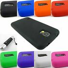 FOR SAMSUNG GALAXY S V 5 S5 SOFT SILICONE RUBBER GEL SKIN CASE COVER+STYLUS/PEN