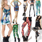 New Sexy Tetris Muscle Leaf Peacock Feathers Space Galaxy Pants Casual Leggings