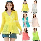 Lady's Lace Flowers UV Sun-protective Rash Guards Clothing Long Sleeves T-Shirt