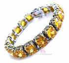 Beauty for Ashes Canary Twotone Throne Room Checker Cut CZ Giant Tennis Bracelet
