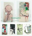 Girl Lady Immitation Leather Wallet Flip Case Cover Skin Stand For Apple Samsung