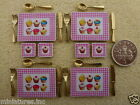 DOLLS HOUSE MINIATURE CUPCAKE TABLE PLACEMATS & COASTERS Gold or Silver CUTLERY