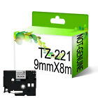 Compatible Brother TZ221 Tze221 For P-Touch 9mm x 8m Black On White Tape