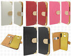 For HTC One M8 Premium Leather Wallet Case Pouch Flip Cover Crocodile Skin