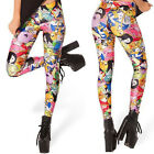 2014 New Fashion Adventure Time Digital Print Women Tights Pants Shiny Leggings