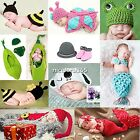 Newborn Baby Girl Boy Crochet Knit Hat Cap Costume Photography Prop Outfit N4U8