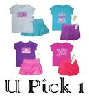 LITTLE GIRLS UNDER ARMOUR SHIRT SKIRT 2 PIECE SET OUTFIT CHILDRENS CLOTHES KIDS