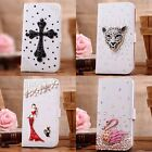 3D bling flip leather wallet card case cover shell for SONY XPERIA Z1 mini D5503