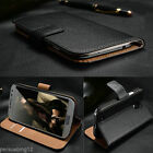 PU Leather Flip Case Wallet Cover Credit Card Holder for Samsung Galaxy Models