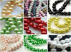 10p Multicolor Round Pearl Imitation Glass loose spacer Beads 16-30mm choose