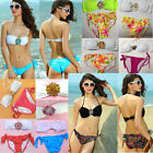 2PCS New Sexy Women Bikini Set Crystal Push Up Padded Top Swimwear Lady Swimsuit