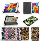 Tri-fold Leather Case Cover For Samsung Galaxy Tab 4 8.0 8 inch SM-T330 Tablet
