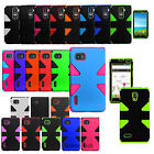 For LG Optimus Hybrid Dynamic Case Hard Silicone Dual Layer Phone Covers
