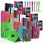 Leather 360 Degree Rotating Smart Stand Case Cover New iPad 4 iPad 3 iPad 2 Gen