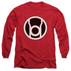 Green Lantern DC Comics Red Lantern Logo Adult Long Sleeve T-Shirt Tee