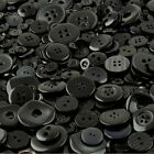 Black Craft Buttons mixed sizes large small medium Wholesale Round sewing 100g