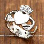 316L Stainless Steel Claddagh Ring Love Promise Friendship Ring us7-13