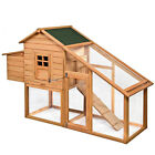 "75"" Deluxe Wooden Chicken Coop Backyard Nest Box Hen House Rabbit Wood Hutch"