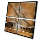 Musical Music Piano/Guitar  MULTI CANVAS WALL ART Picture Print VA