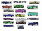 CD machine embroidery design files 17 SPORTS CARS in 13 formats pes jef hus etc