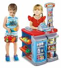 22 Pieces Childrens Supermarket Grocery Food Market Shop With Shopping Trolley