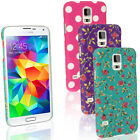 Hard Plastic Case for Samsung Galaxy S5 SV SM-G900 Skin Back Cover + Screen Prot
