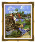 Framed Fine Art Print Houses at Auvers by Vincent van Gogh Painting Reproduction